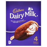 Cadbury Dairy Milk Luxury Ice Creams 4 x 100ml (400ml)