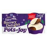Cadbury Dairy Milk Pots of Joy Limited Edition Snowy Delight 2 x 65g (130g)