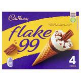 Cadbury Flake 99 Ice Cream Cones 4 x 125ml