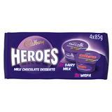 Cadbury Heroes Wispa & Dairy Milk Chocolate Desserts 4x85g