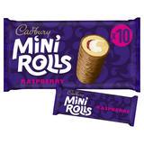 Cadbury Raspberry Mini Rolls Cakes x10