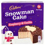 Cadbury Snowman Cake Raspberry & Vanilla