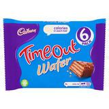 Cadbury Timeout Wafer Bar 6 Pack 121.2g