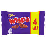 Cadbury Wispa Chocolate Bar 4 Pack 102g