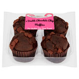 CakeBasket 4 Double Chocolate Chip Muffins
