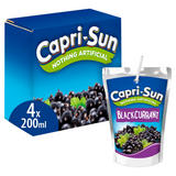Capri-Sun Blackcurrant 4 x 200ml