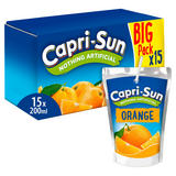 Capri-Sun Nothing Artificial No Added Sugar Orange 15 x 200ml