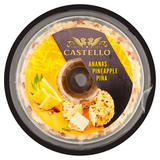 Castello Pineapple & Almond Cream Cheese Ring 125g