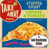 Iceland Hot Dog Stuffed Crust Cheese and Tomato Pizza 531g