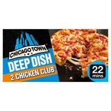 Chicago Town 2 Deep Dish Chicken Club Pizzas 2 x 160g (320g)