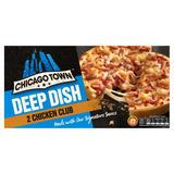 Chicago Town 2 Deep Dish Chicken Club Pizzas 320g