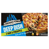 Chicago Town 2 Deep Dish Ham & Pineapple Pizzas 2 x 165g (330g)