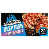 Chicago Town 2 Deep Dish Mega Meaty Pizzas 2 x 160g (320g)