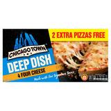 Chicago Town Deep Dish Four Cheese Pizzas 4 x 155g (620g)