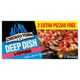 Chicago Town Deep Dish Pepperoni Pizzas 4 x 160g (640g)