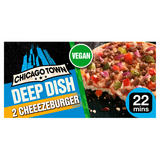 Chicago Town Deep Dish Vegan Cheeseburger Pizzas 2 x 166g (332g)