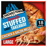 Chicago Town Takeaway Large Stuffed Crust Chicken & Bacon Melt Pizza 640g