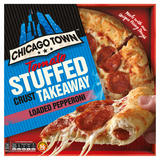 Chicago Town Takeaway Medium Stuffed Crust Pepperoni Pizza 490g