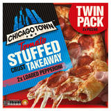 Chicago Town Takeaway Tomato Stuffed Crust Pepperoni 2 x 645g