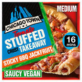 Chicago Town Takeaway Vegan Medium Stuffed Sticky BBQ Jackfruit Pizza 490g