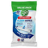 Clean & Go Anti-Bacterial 30 Extra Large Floor Wipes