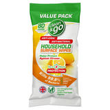 Clean & Go Household Surface Wipes 80 Wipes