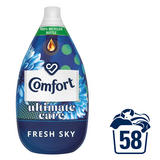 Comfort Ultimate Care Fresh Sky Ultra-Concentrated Fabric Conditioner 58 Wash 870 ml