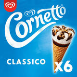Cornetto Classico Ice Cream Cones 6 x 90ml