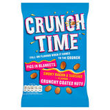 Crunch Time Pigs in Blankets Smoky Bacon & Sausage Flavour Crunchy Coated Nuts 120g