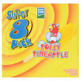 Dale Farm 8 Polly Pineapple Flavoured Lollies 440ml