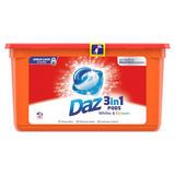 Daz 3in1 Pods Whites & Colours Washing Liquid Capsules 42 Washes