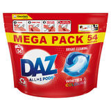 Daz ALL in 1 PODs Washing Capsules Whites & Colours 54 Washes