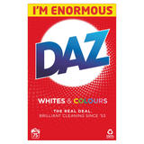 Daz Washing Powder Whites & Colours 4.875KG 75 Washes
