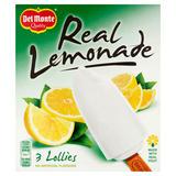 Del Monte Quality Real Lemonade Lollies 3 x 75ml (225ml)