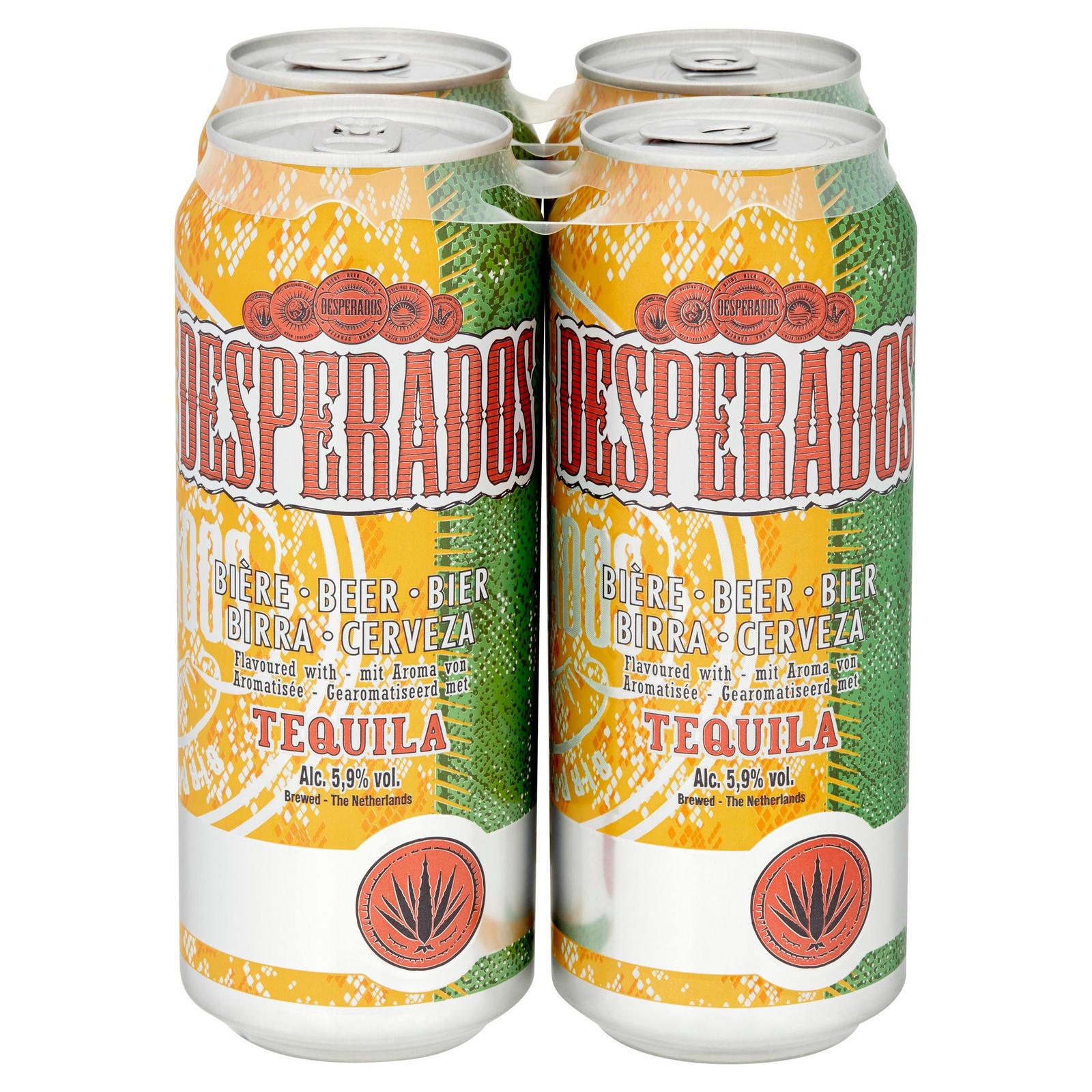 Desperados Tequila Lager Beer 4 X 500ml Cans Beer Cider Ales Iceland Foods