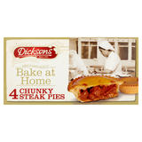 Dicksons Bake at Home Chunky Steak Pies 4 x 169g
