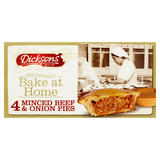 Dicksons Bake at Home Minced Beef & Onion Pies 4 x 169g