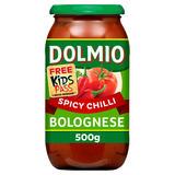 Dolmio Bolognese Chilli Pasta Sauce 500g