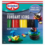 Dr. Oetker Ready to Roll Coloured Fondant icing 5 x 100g (500g)