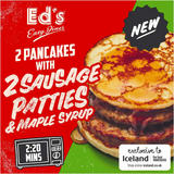 Ed's Diner Microwavable  2 Pancakes with 2 Sausage Patties and Maple Syrup 180g