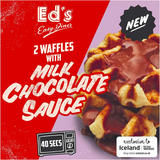 Ed's Diner Microwavable 2 Waffles With Chocolate Sauce 121g