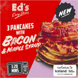 Ed's Diner Microwavable 3 Pancakes with Bacon and Maple Syrup 140g