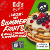 Ed's Diner Microwavable  3 Pancakes with Summer Fruits and White Chocolate Flavoured Sauce 180g