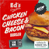 Ed's Diner Microwavable Chicken, Cheese and Bacon Burger 164g
