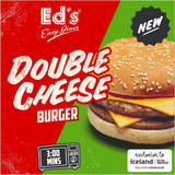 Ed's Diner Microwavable Double Cheeseburger 202g