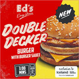 Ed's Diner Microwavable Double Decker Burger with Burger Sauce 204g