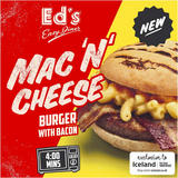 Ed's Diner Microwavable Mac 'N' Cheese Burger with Bacon 240g