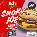 Ed's Diner Microwavable Smoky Joe Burger with BBQ Sauce 209g