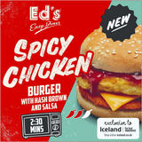 Ed's Diner Microwavable Spicy Chicken Burger with Hash Brown and Salsa 186g