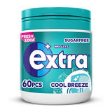 Extra Cool Breeze Chewing Gum Sugar Free Bottle 60 pieces